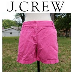 "J. Crew Chino City Fit Pink 5"" Shorts 2 88756"